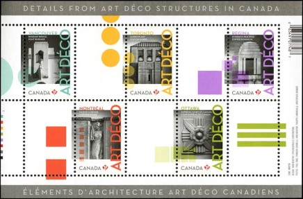 The Deco Buildings of the Post Office's New Stamps