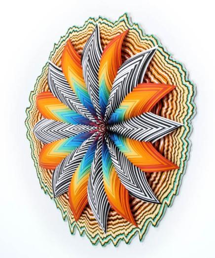 Jen Stark's X-Acto KnifeSculptures