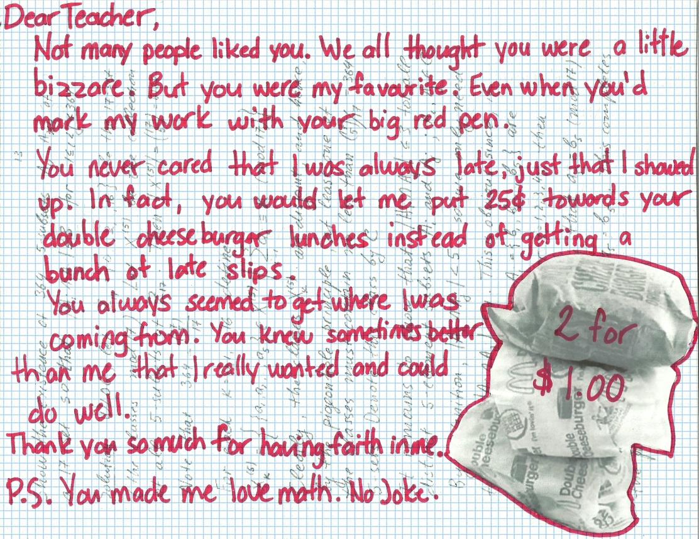dear teacher art of the letter canadian art junkie kalfakis