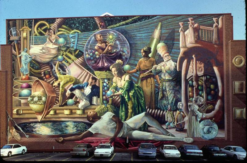 Public art iconic megamurals canadian art junkie for Common threads mural