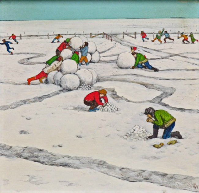 kurelek-prairie-children-building-a-snow-fort