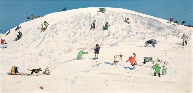 Kurelek1- Eskimo-children-playing-Cape-Dorset