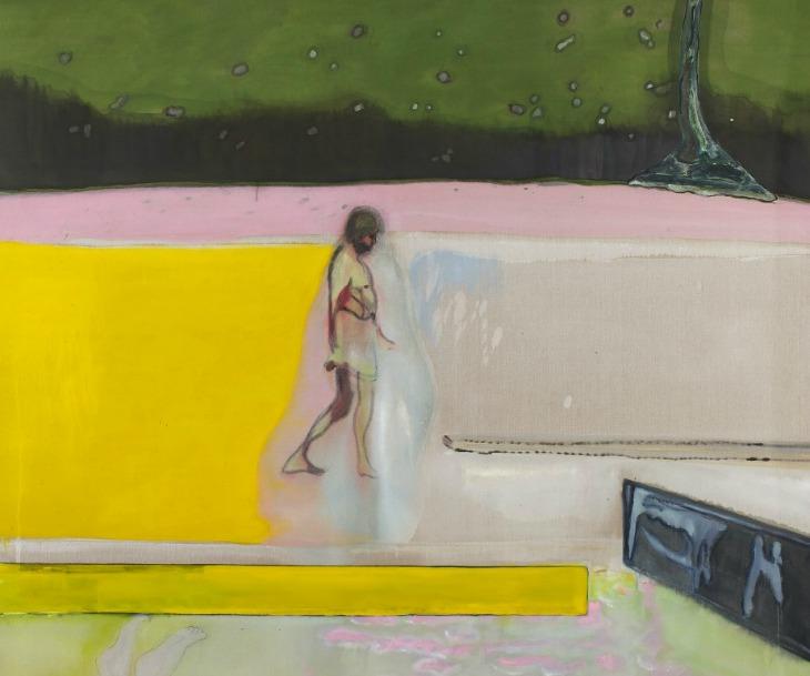 Doig-Walking-Figure-By-Pool