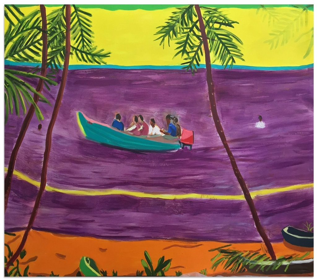 Englishman's Bay 64 x 73 inches oil on canvas 2015