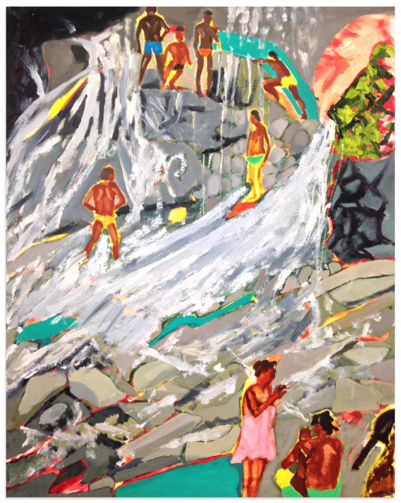 "Argyle Waterfall I 36 1/2 x 30"" on canvas, 2015"