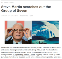 Steve Martin searches out the Group of Seven - Canadian Art Junkie 2015-11-03 09-30-56