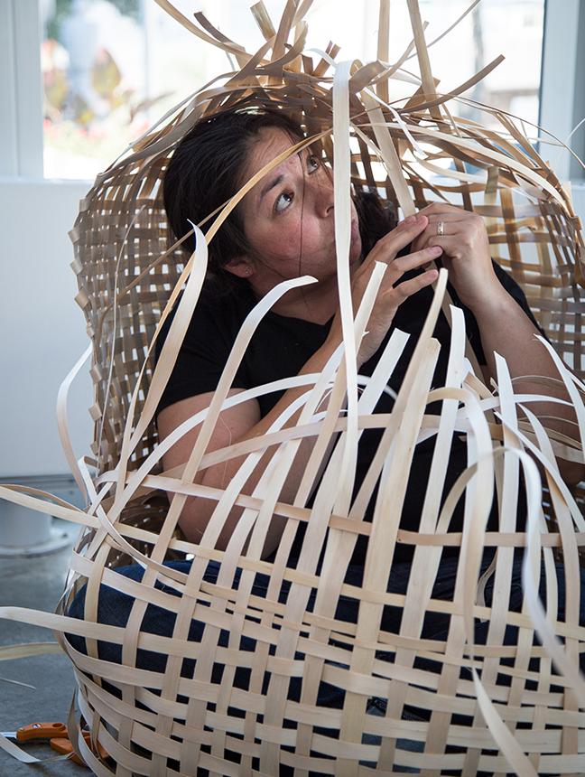 Basket Weaving (Cultural Cocoon) – Ursula Johnson- Multidisciplinary Mi'kmaq Artist 2016-04-14 10-18-39