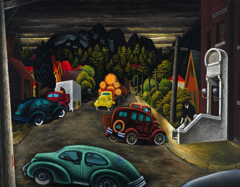 1949 painting The Post Office at Courtenay, BC, sold for $1.593 million at the Heffel auction
