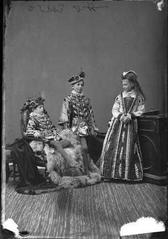 Lady and Lord Dufferin's three oldest children, 1876