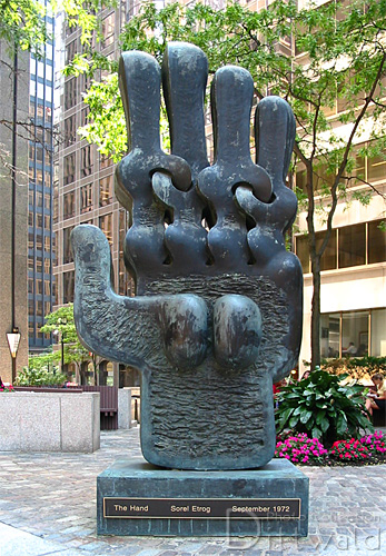 The Hand King St. W. at York St, Toronto. Probably his most recognizable work.