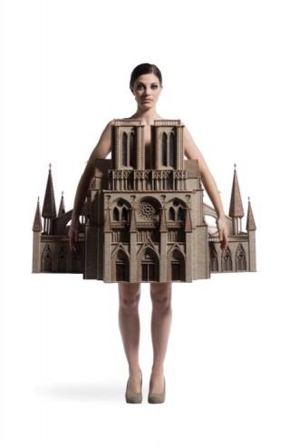 Lynne Christiansen, USA, Gothic Habit, 2014. Felt, wood.