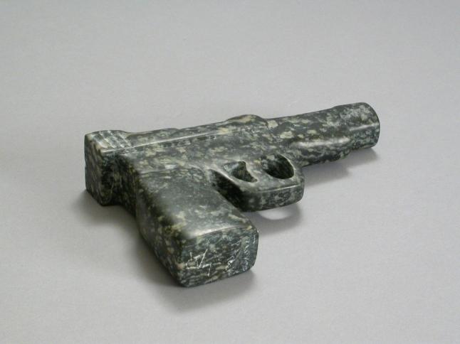 Glock, 2009, stone, 1.25 x 6.5 x 4.25 in.