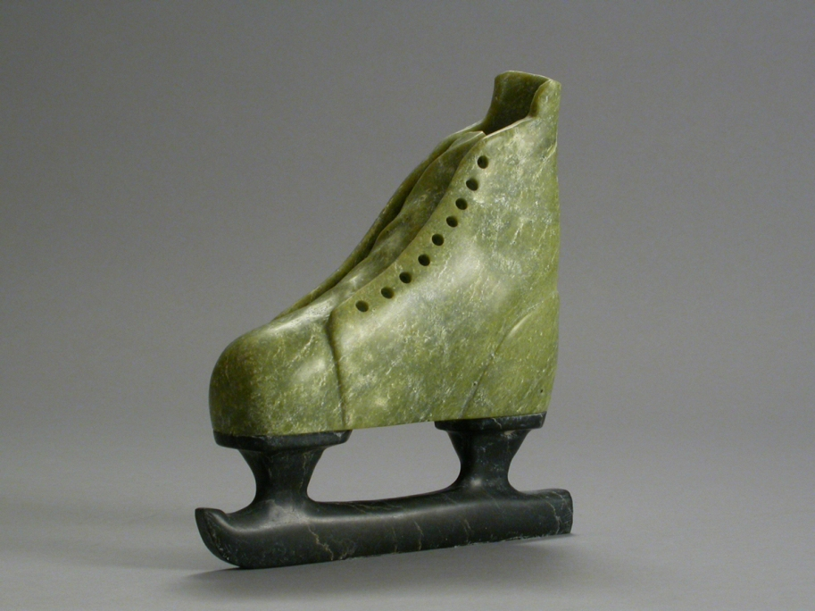Lace Me Up, 2010, stone, 7.5 x 7 x 2.25 in.