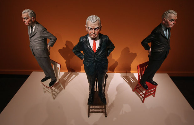 The Politician (1986) in an March 2009 exhibit of Fafard's work at the Glenbow Museum. ARCHIVE / CALGARY HERALD