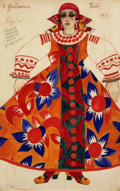 "Peasant Woman, costume design for ""Le Cogy d'Or"" (1937)"
